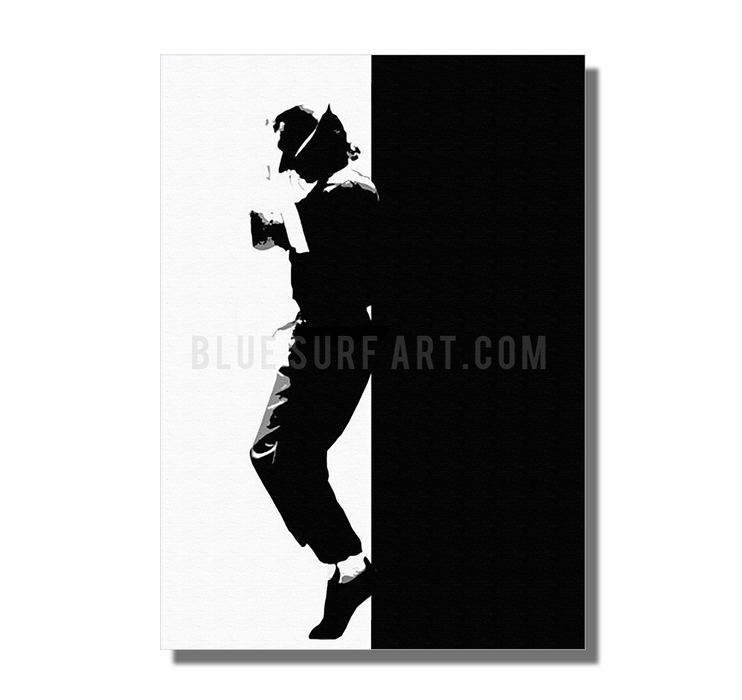 Off the Wall - Michael Jackson Oil Painting on Canvas by Blue Surf Art 2