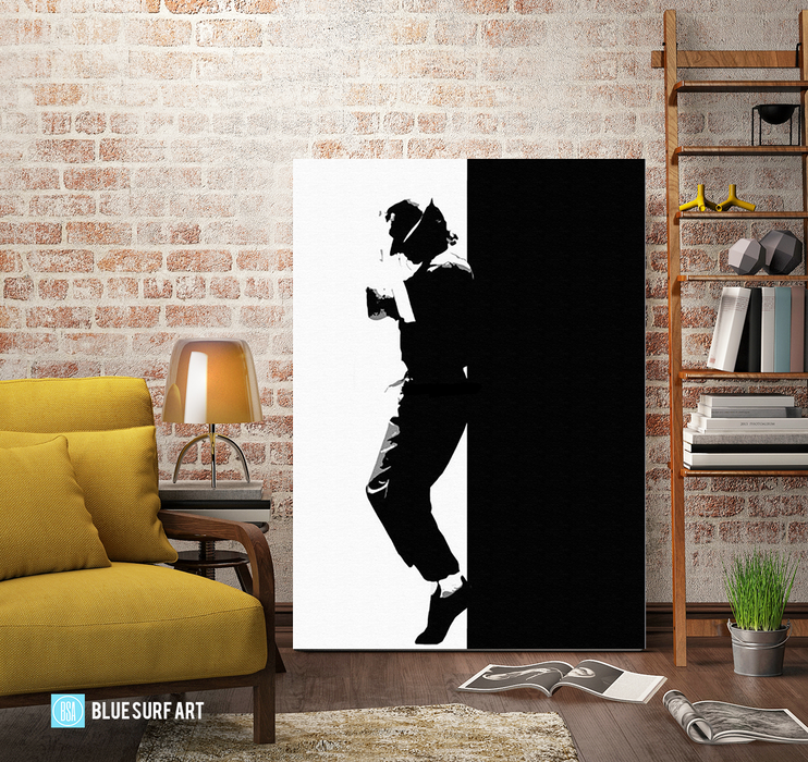 Off the Wall - Michael Jackson Oil Painting on Canvas by Blue Surf Art 3