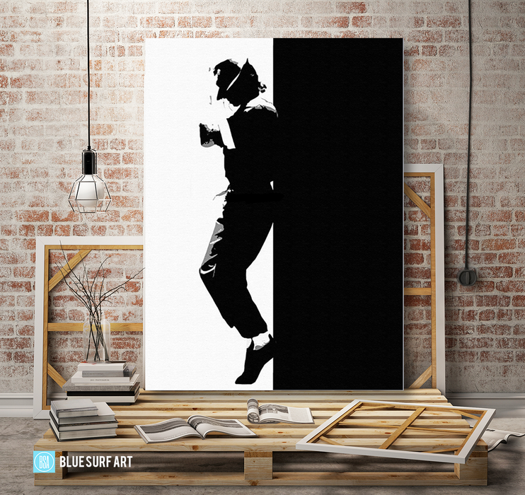 Off the Wall - Michael Jackson Oil Painting on Canvas by Blue Surf Art 4