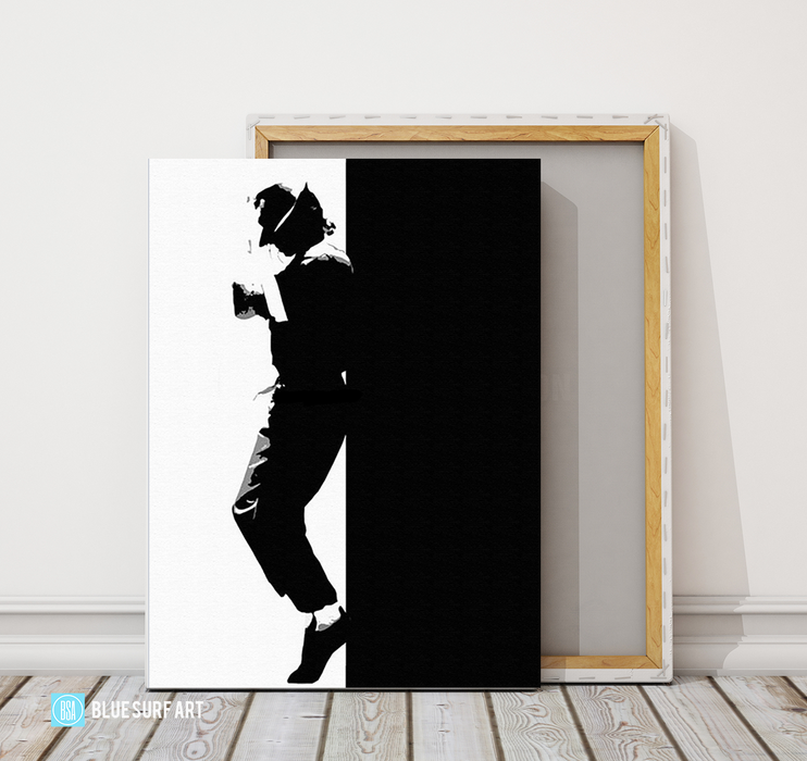 Off the Wall - Michael Jackson Oil Painting on Canvas by Blue Surf Art 5