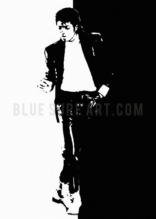 Billy Jean - Michael Jackson Oil Painting on Canvas by Blue Surf Art