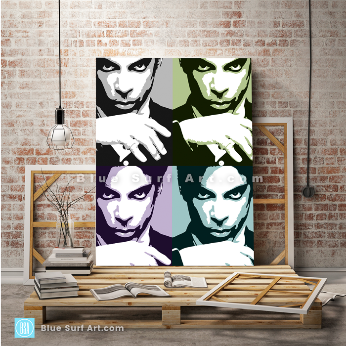 Prince Four Panel Oil Painting on Canvas by Blue Surf Art 2