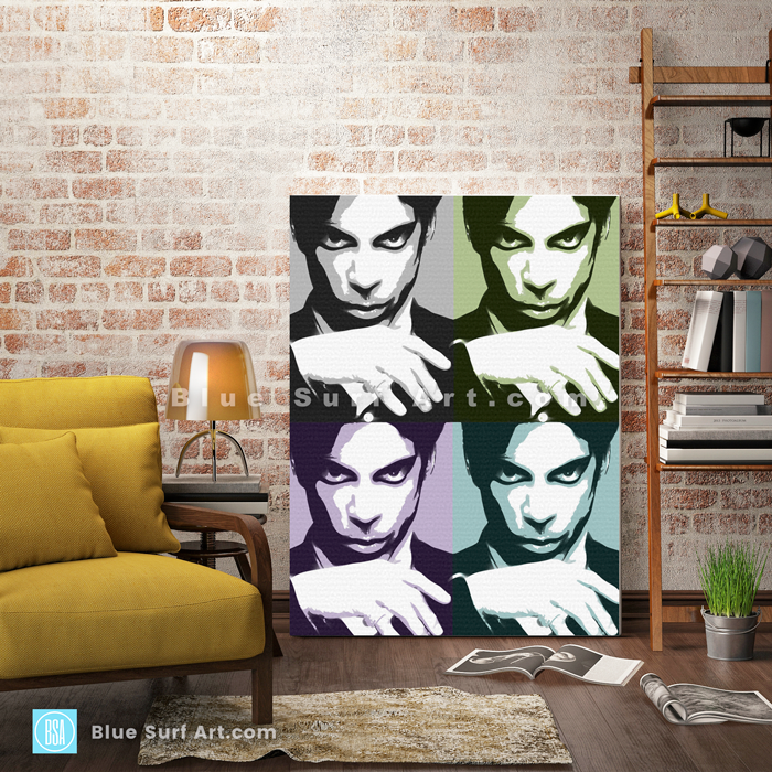 Prince Four Panel Oil Painting on Canvas by Blue Surf Art 3