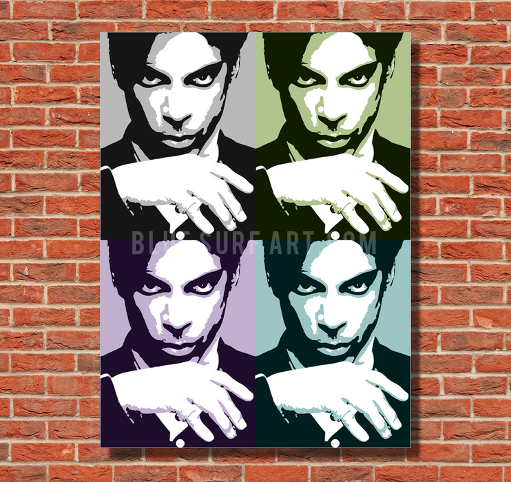 Prince Four Panel Oil Painting on Canvas by Blue Surf Art 1