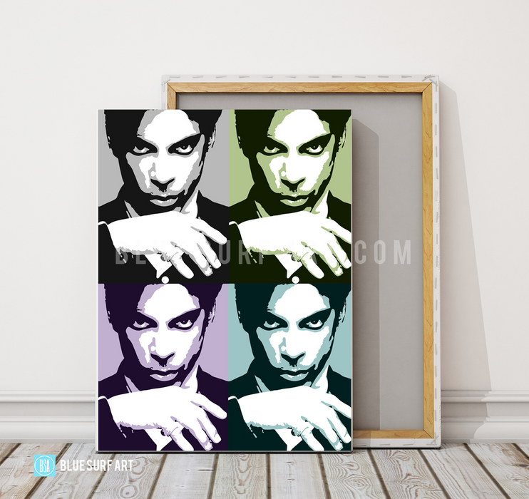 Prince Four Panel Oil Painting on Canvas by Blue Surf Art 4