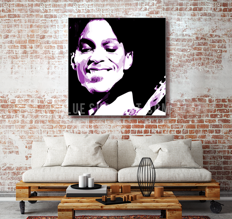 Purple Rain oil painting on canvas by Blue Surf Art 1