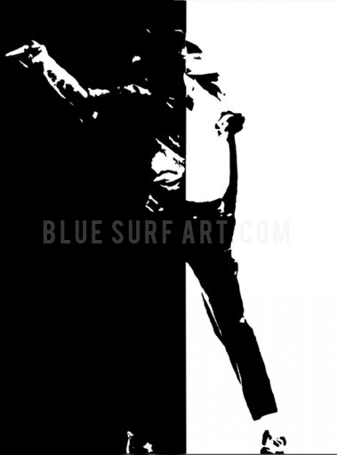 Black or White - Michael Jackson Oil Painting on Canvas by Blue Surf Art -1