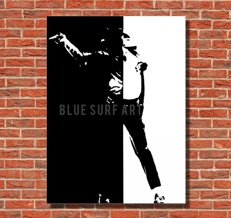 Black or White - Michael Jackson Oil Painting on Canvas by Blue Surf Art -2
