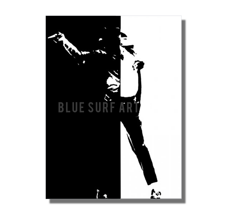 Black or White - Michael Jackson Oil Painting on Canvas by Blue Surf Art -3