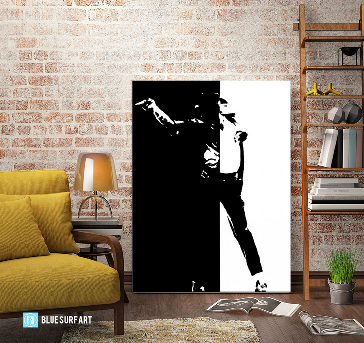 Black or White - Michael Jackson Oil Painting on Canvas by Blue Surf Art -6