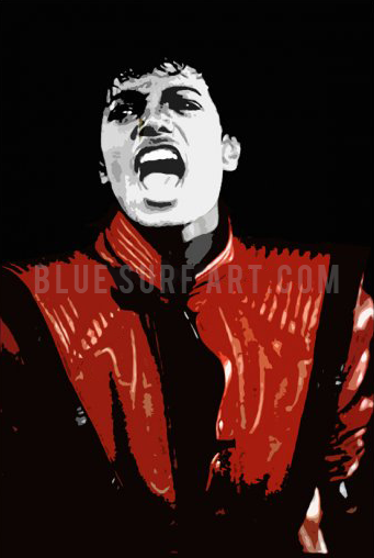The Thriller oil paitning on canvas by Blue Surf Art - 1