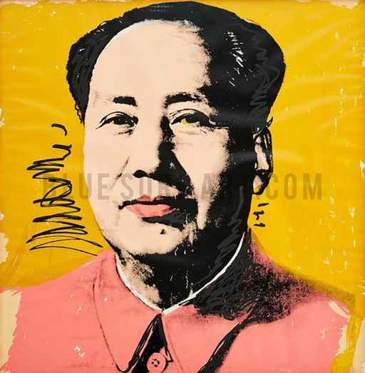 Mao Tse Tung Warhol oil painting on canvas by Blue Surf Art