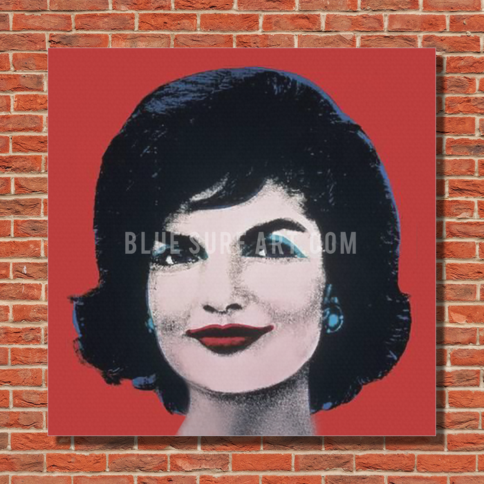 Jacky Warhol oil painting on canvas by Blue Surf Art - red bricks