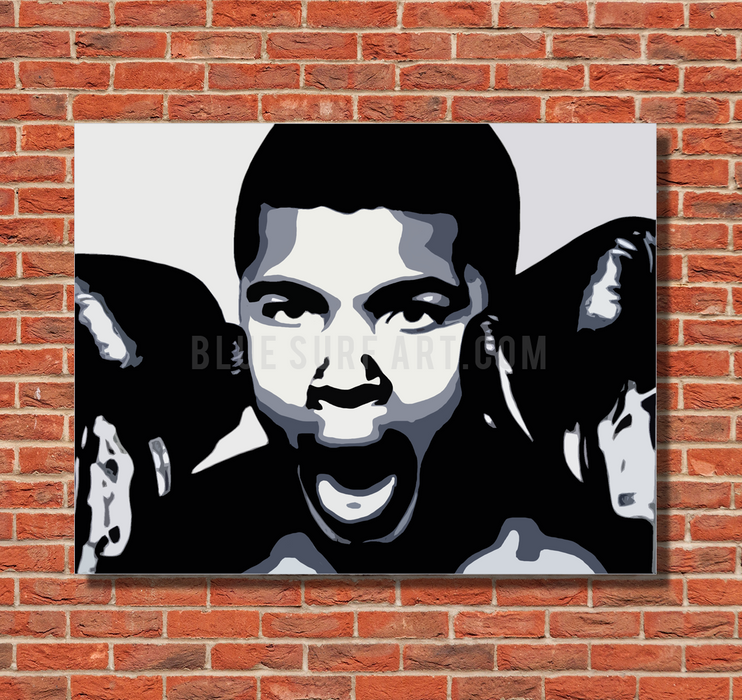 The Greatest - Muhammad Ali Oil Painting on Canvas by Blue Surf Art 1