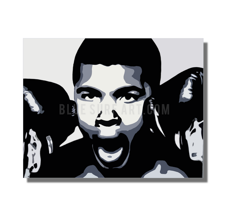 The Greatest - Muhammad Ali Oil Painting on Canvas by Blue Surf Art 2