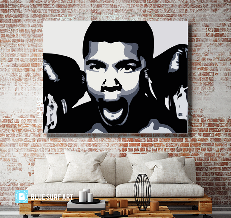 The Greatest - Muhammad Ali Oil Painting on Canvas by Blue Surf Art 5