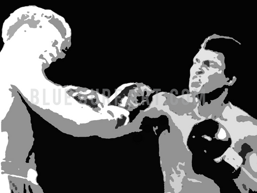 When Ali rumbled Foreman - Muhammad Ali Oil Painting on Canvas by Blue Surf Art