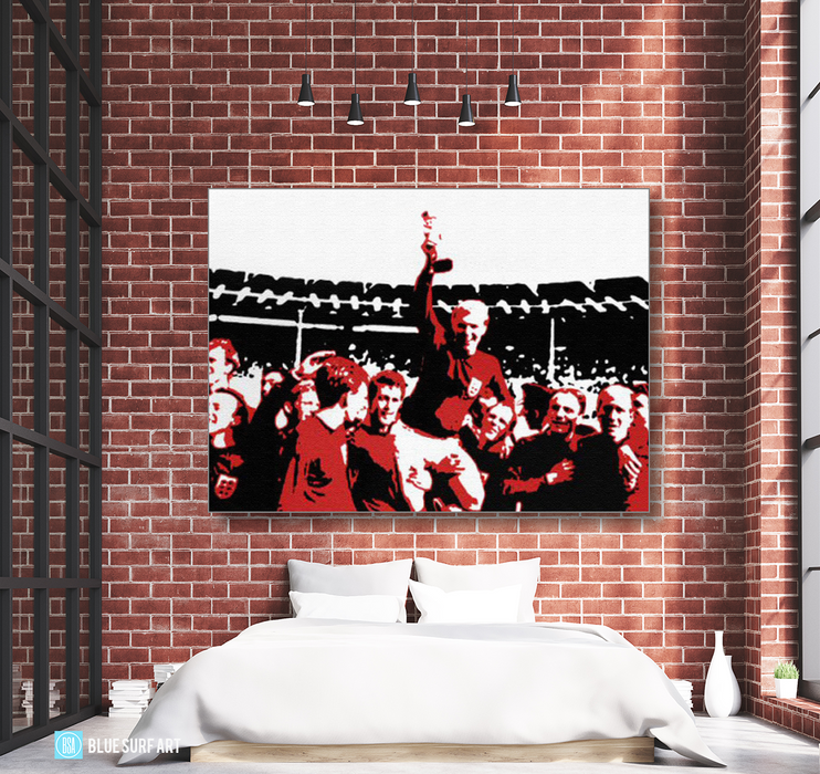 Englands World Cup Oil Painting on Canvas by Blue Surf Art 2
