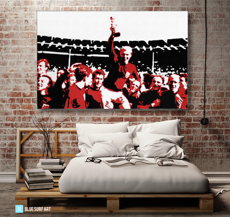 Englands World Cup Oil Painting on Canvas by Blue Surf Art 3