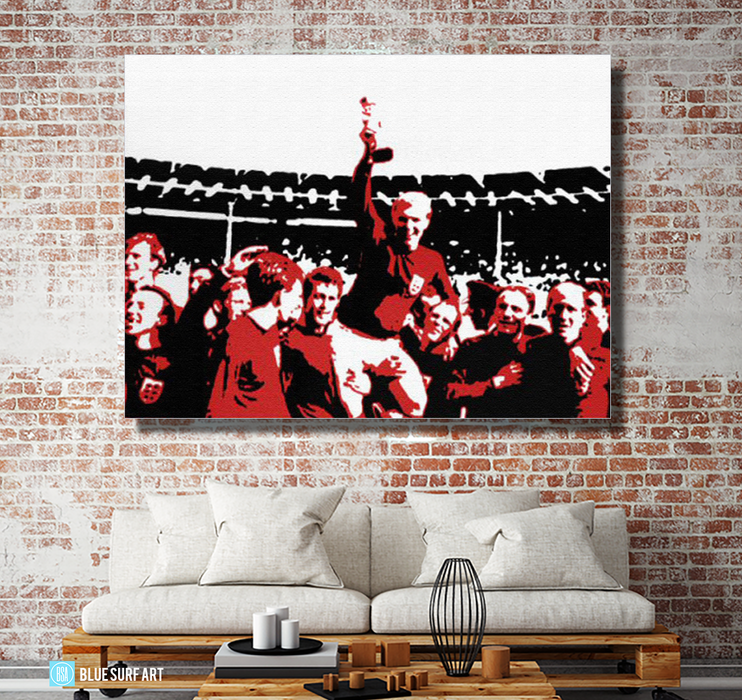 Englands World Cup Oil Painting on Canvas by Blue Surf Art 4