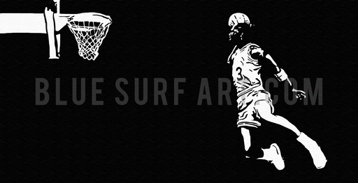 Slam-Dunk - Michael Jordan Oil Painting on Canvas by Blue Surf Art