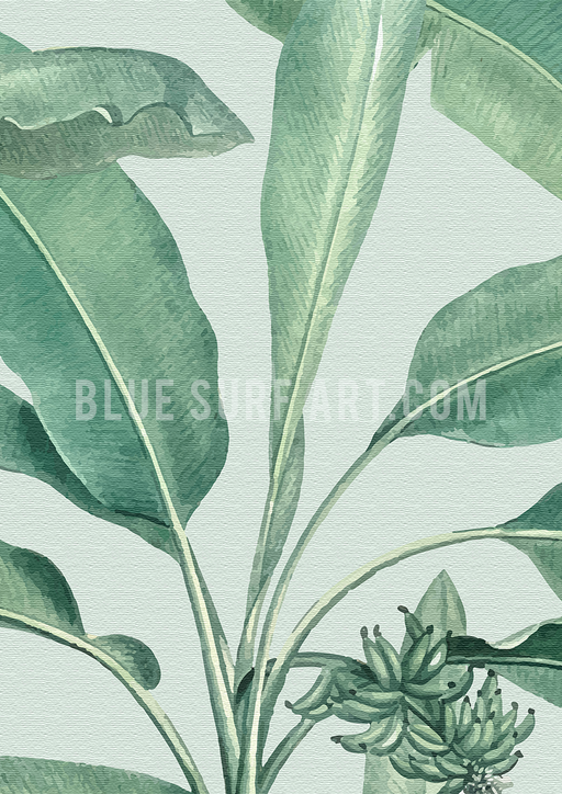 Tropical Banana Leaf Canvas Art Print III