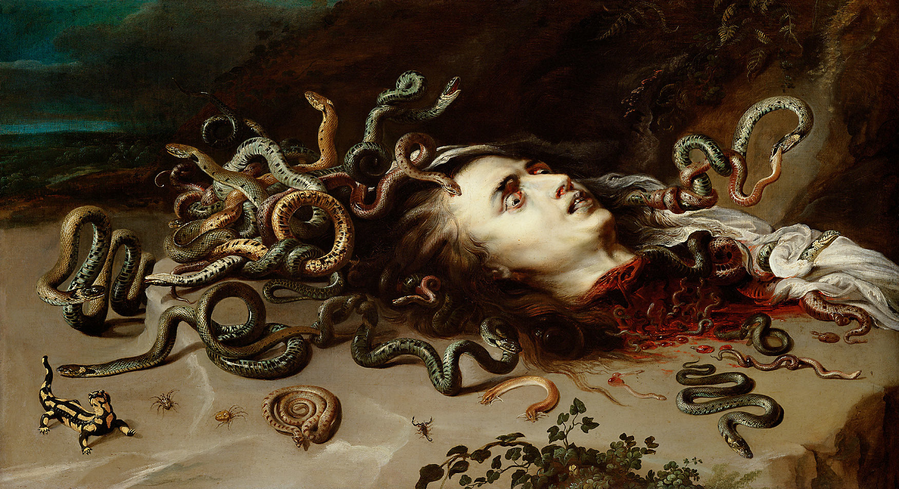 Head of Medusa by Peter Paul Rubens Reproduction Oil Painting on Canvas