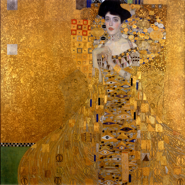 Portrait of Adele Bloch-Bauer I by Gustav Klimt, Reproduction Oil Painting on Canvas