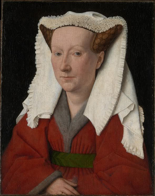 Portrait of Margaret van Eyck by Jan Van Eyck Reproduction Painting by Blue Surf Art