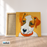 Cute Puppy Canvas Art Painting, Animal Pop Art, Room Decor, Wall Art - on frame
