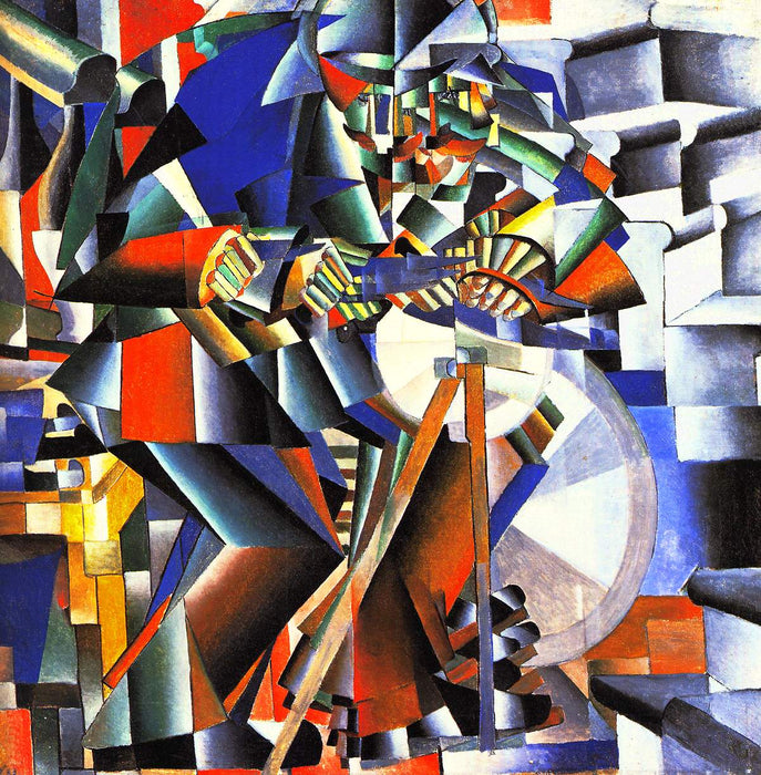 The Knifegrinder by Kazimir Malevich Reproduction Painting