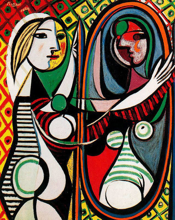 Girl before a Mirror by Pablo Picasso Reproduction Painting