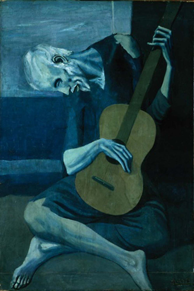 The Old Guitarist by Pablo Picasso Reproduction Painting