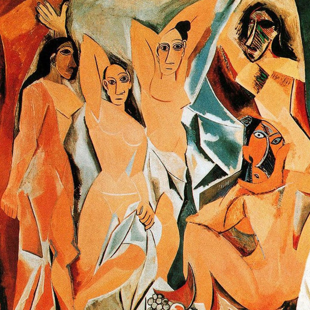 Les Demoiselles d'Avignon by Pablo Picasso Reproduction Painting