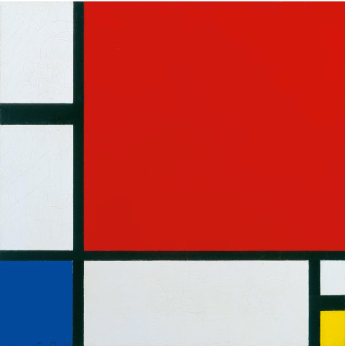 Composition II in Red, Blue, and Yellow by Piet Mondrian Reproduction Painting