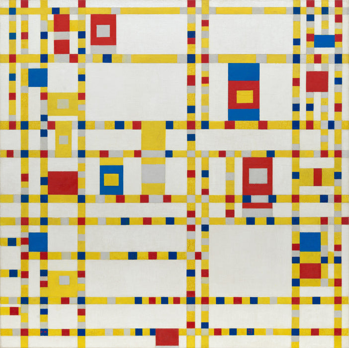 Broadway Boogie-Woogie by Piet Mondrian Reproduction Painting