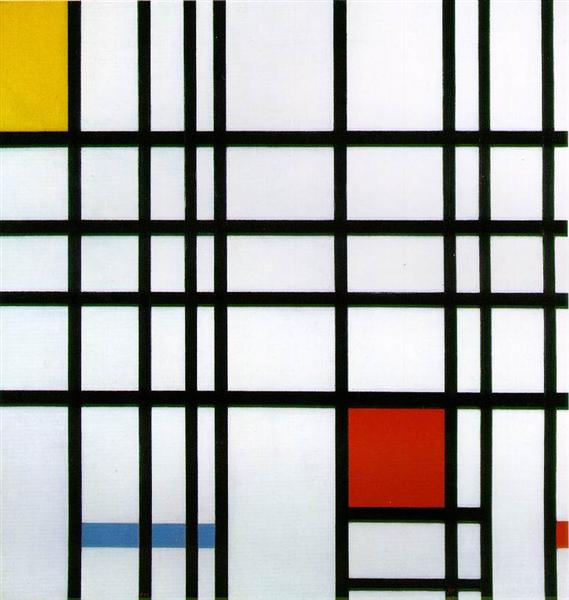 Composition with Red, Yellow and Blue