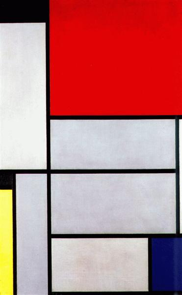 Tableau I by Piet Mondrian Reproduction Painting by Blue Surf Art