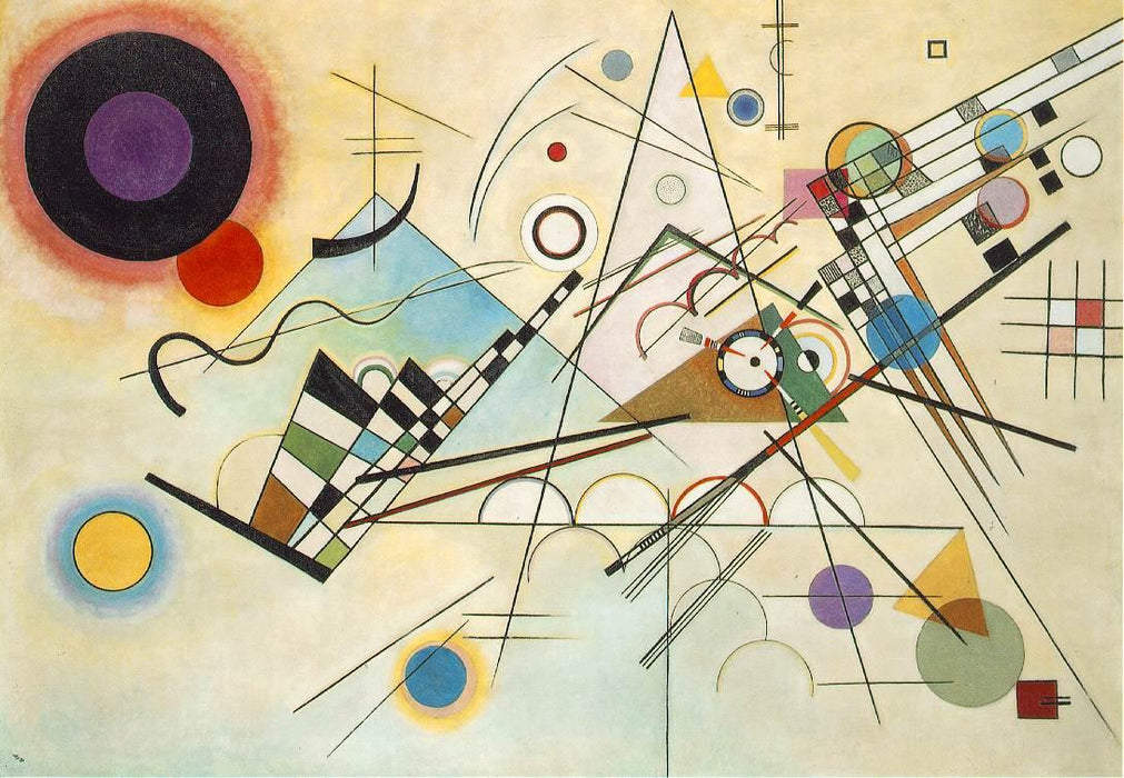 Composition 8 by Wassily Kandinsky Wall Art, Home Decor