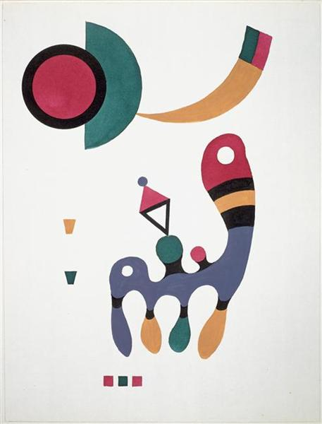 Composition by Wassily Kandinsky Wall Art, Home Decor, Reproduction