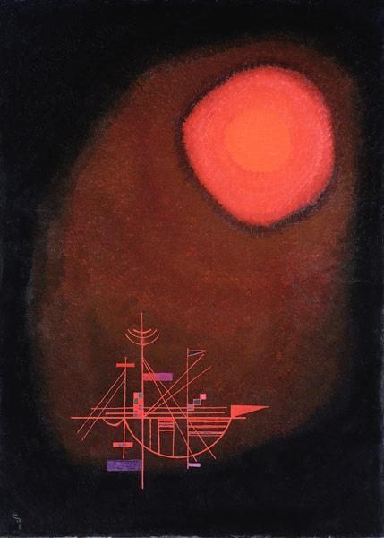 Red Sun and Ship by Wassily Kandinsky Wall Art, Home Decor, Reproduction