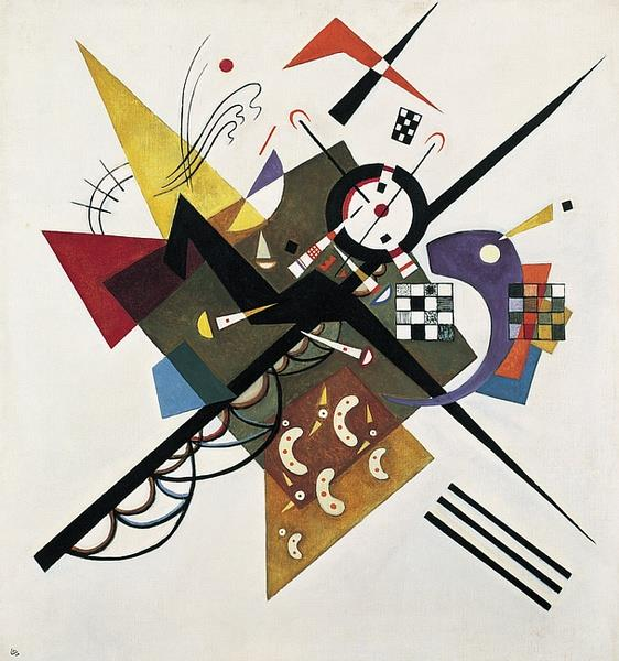 On White II by Wassily Kandinsky Wall Art, Home Decor, Reproduction