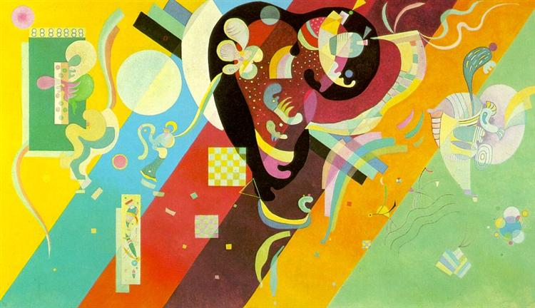 Composition IX by Wassily Kandinsky Wall Art, Home Decor, Reproduction