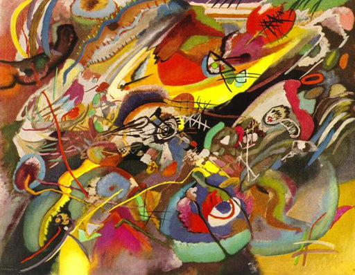 "Study for ""Composition VII"" by Wassily Kandinsky Wall Art, Home Decor, Reproduction"