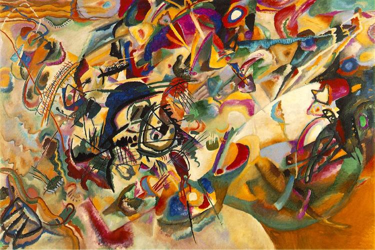 Composition VII by Wassily Kandinsky Wall Art, Home Decor, Reproduction