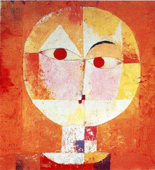 Senecio by Paul Klee - Reproduction Painting by Blue Surf Art