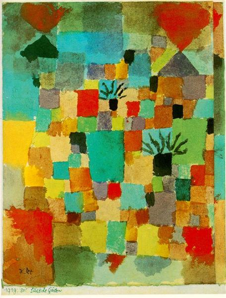 Southern (Tunisian) gardens by Paul Klee