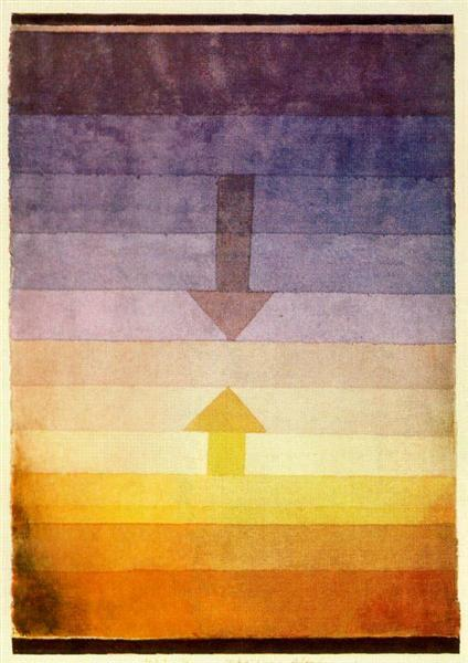 Separation in the Evening (Original Title: Scheidung Abends) by Paul Klee