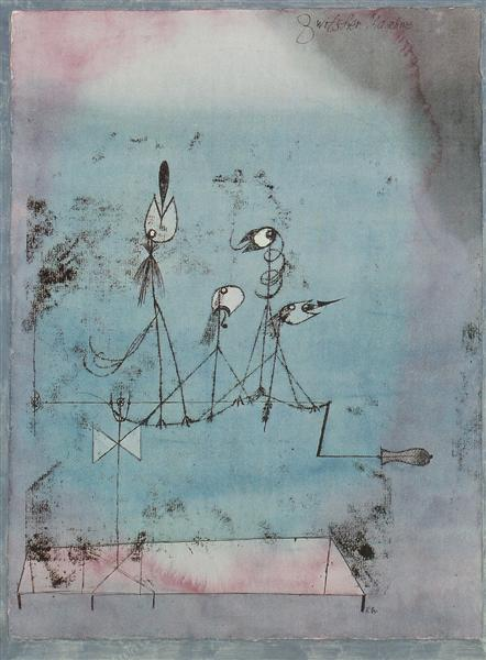 Twittering Machine (original title: Die Zwitscher-Maschine) by Paul Klee