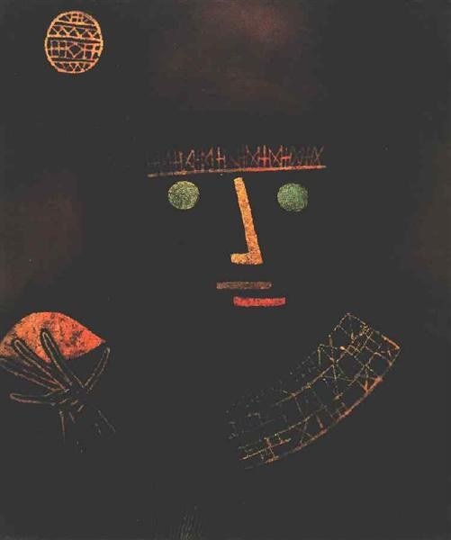 Black Knight by Paul Klee - Reproduction Painting by Blue Surf Art